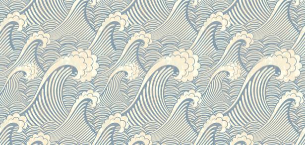 Фотообои волны морские графика (background-0000202)