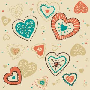 Фотошторы винтажные сердечки (bedroom-curtain-00003)
