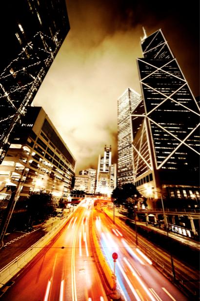 Фотообои Ночной мегаполис, мост, дорога (city-0000049)