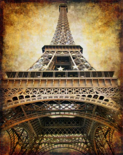 Фотообои винтаж Эйфелева башня (city-0000385)