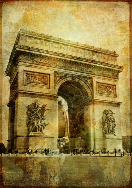 Фотообои Триумфальная арка Париж (city-0000395)