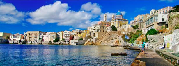 Фотообои Греция набережная причал (city-0000620)