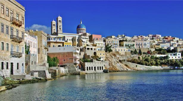 Фотообои Греция море пейзаж (city-0001190)