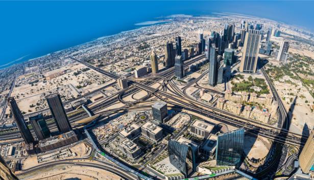 вид из окна фотообои Бурдж Халифа Дубаи (city-0001388)