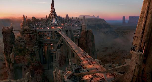 Фотообои футуритсический город крепость (fantasy-0000060)