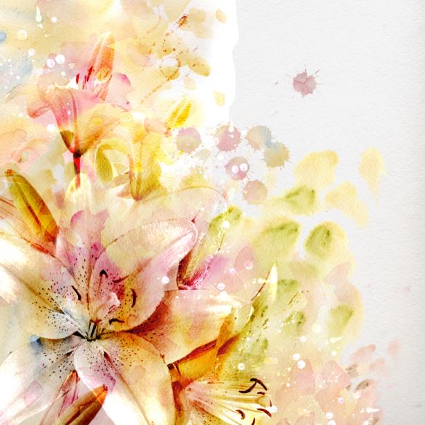 Комнатные обои Лилии (flowers-0000685)