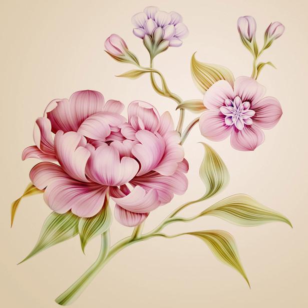 Фотообои Декоративные пионы (flowers-752)