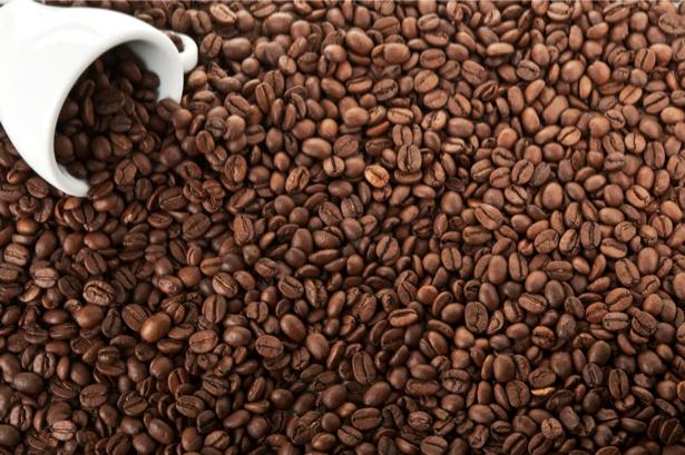 Фотообои для кухни зерна кофе чашка (food-0000142)