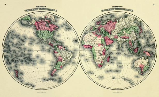 атлас, география, карты, старая карта (map-0000149)