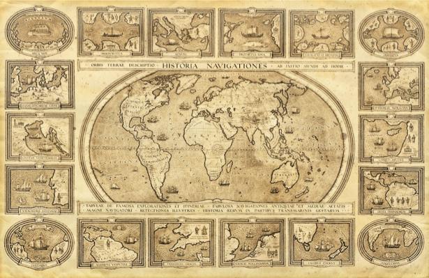Фотообои карта история навигации (map-0000177)