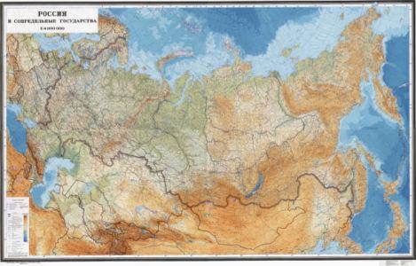 Фотообои с картой России (map-0000221)