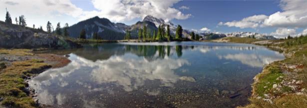 Фотообои природные пейзажи высокогорное озеро (nature-00153)