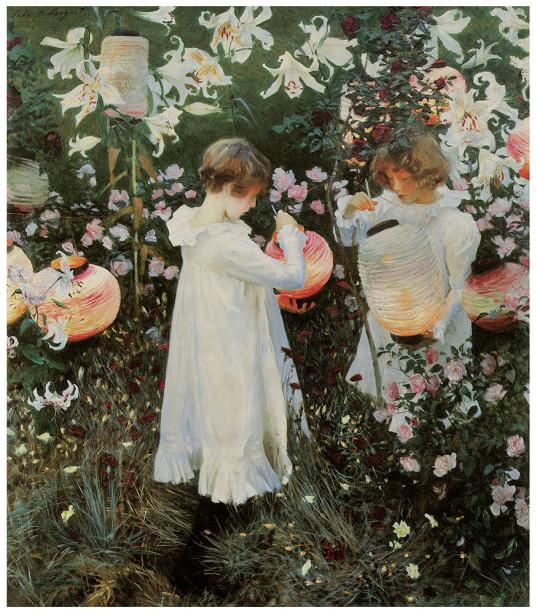 цветы, сад, дети (pf-101)