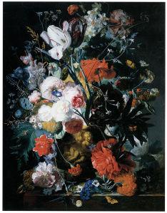 натюрморт с цветами печать на холсте (pf-65)