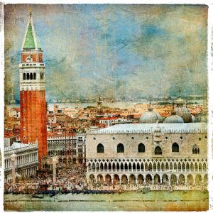 Фотообои Венеция Италия город (retro-vintage-0000142)
