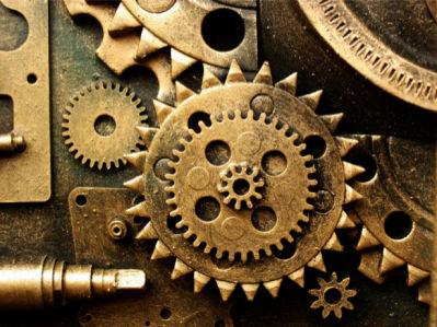 Фотообои часы механизм (retro-vintage-0000196)