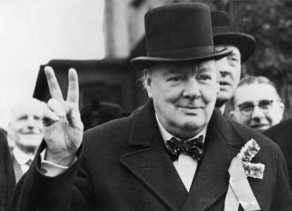Фотообои Уинстон Черчилль победа (retro-vintage-0000355)