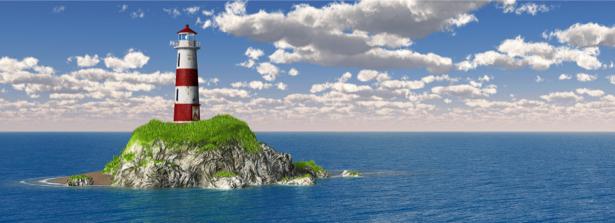 Фотообои море маяк (sea-0000280)