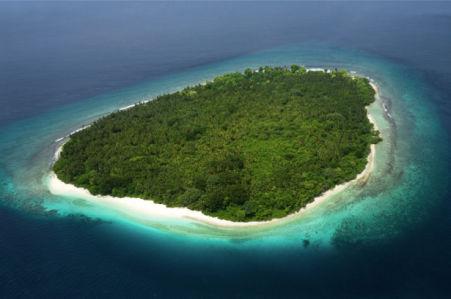 Фотообои остров в океане (sea-0000299)