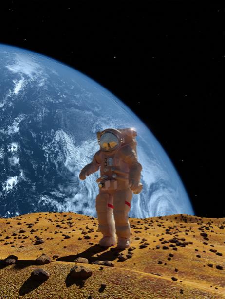 Фотообои космонавт (space-0000064)