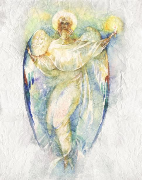 Фото обои Ангел нарисованный (angel-00055)