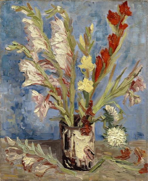Живописные фотообои цветы -  Гладиолусы (art-0000285)