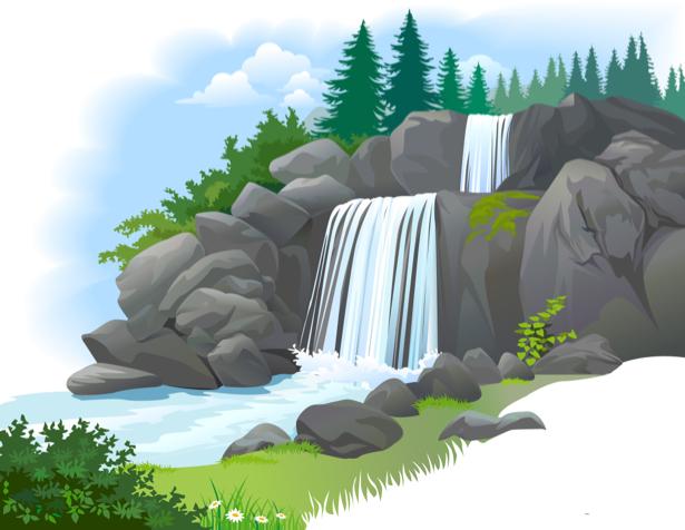 Фотообои детские - Водопад (children-0000249)