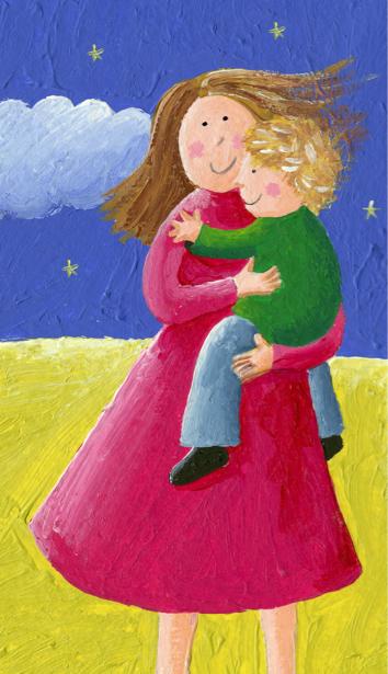Фотообои детские Мама с ребенком (children-0000310)