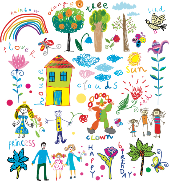 Фотошторы рисунок ребенка (children-curtain-00013)