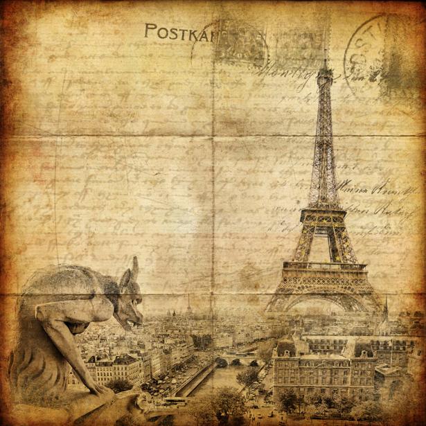 Фотообои Париж Эйфелева башня винтаж (city-0000387)