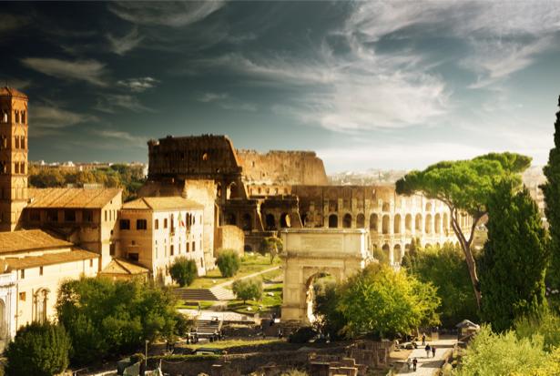 Фотообои Римский форум, колизей (city-0000419)