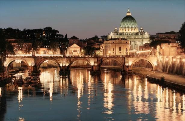 Фотообои Рим Ватикан мост Умберто (city-0000570)