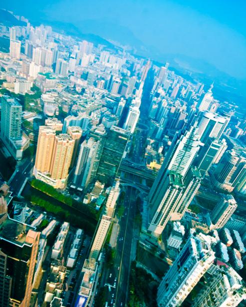 Фотообои вид сверху на город (city-0000584)