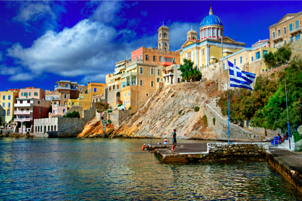Фотообои Греция набережная причал (city-0000618)