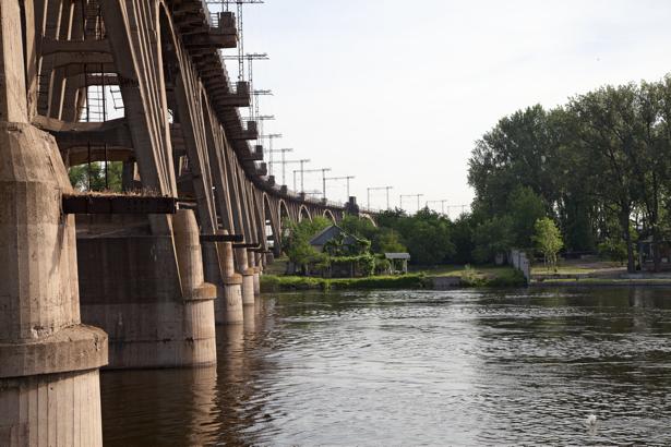 Фотообои мост Днепропетровск Днепр (city-0000853)