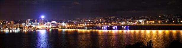 Фотообои Днепропетровск ночная панорама (city-0000921)