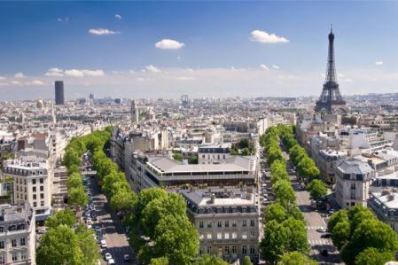 Фотообои Вид на Париж с высоты (city-0001369)