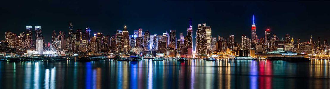 Фотообои ночной Нью-Йорк 368х100 (city1335)