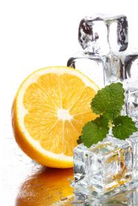 Фотообои кухня апельсин во льду (food-0000291)
