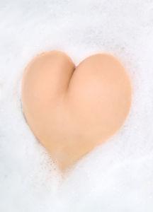 Фотообои женское сердечко (glamour-0000243)