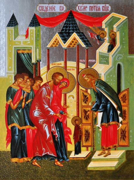 Икона Введение во храм Богородицы (icon-00030)