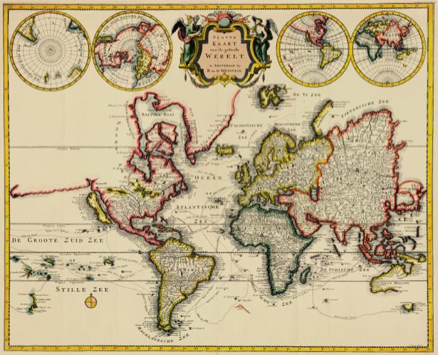 атлас, география, карты, старая карта (map-0000143)