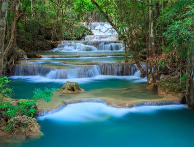 Фотообои в зал каскад водопад лес (nature-0000727)