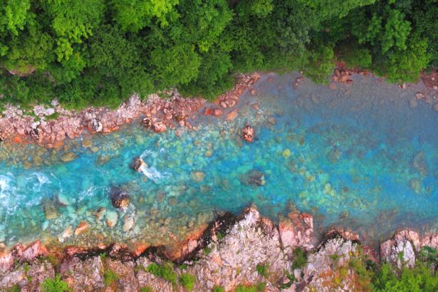 Фотообои горная река сверху (nature-0000728)