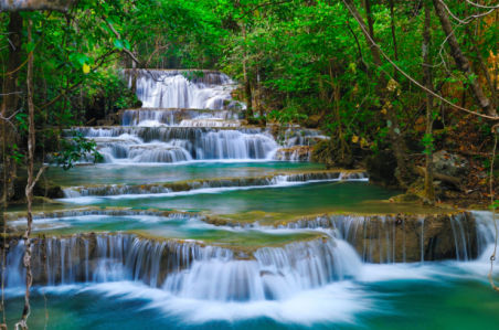 Фотообои водопад много уровневый (nature-0000854)