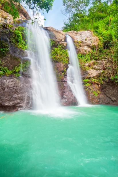 Фотообои водопад изумрудная вода (nature-00458)