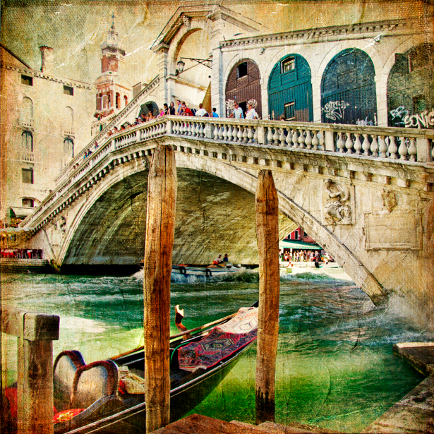 Фотообои канал в Венеции (retro-vintage-0000115)
