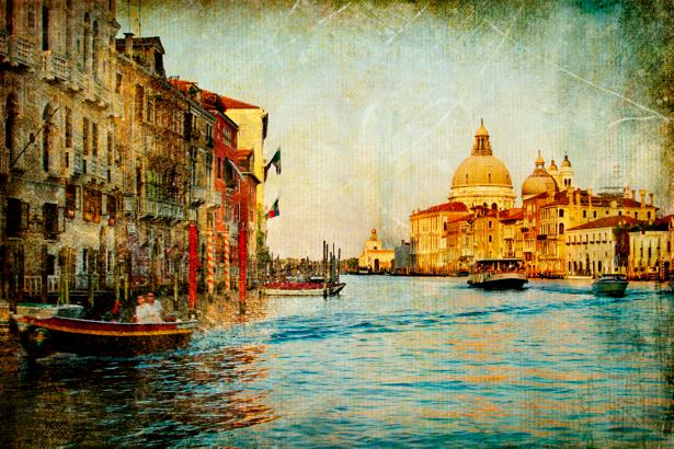 канал в Венеции - Фотообои (retro-vintage-0000119)