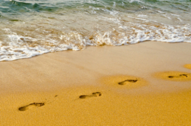 Фотообои море берег следы (sea-0000153)