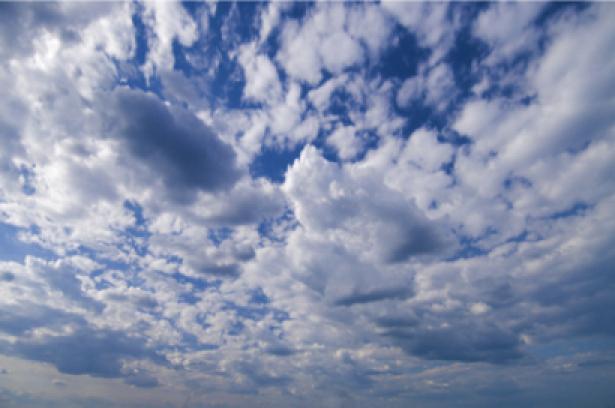 Фотообои панно небо с облаками днём (sky-0000022)